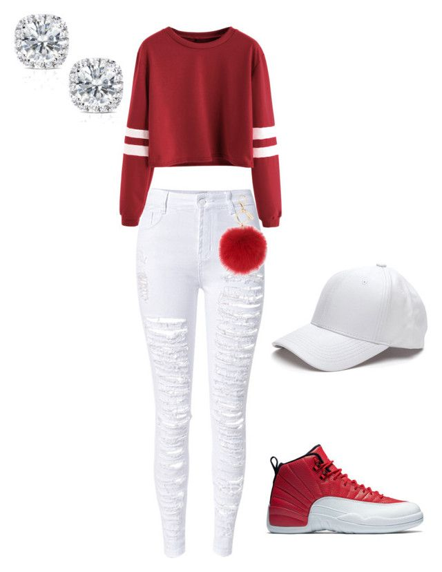 """How to wear jordans"" by suvareajefferson on Polyvore featuring WithChic, L.K.Bennett and Kobelli"