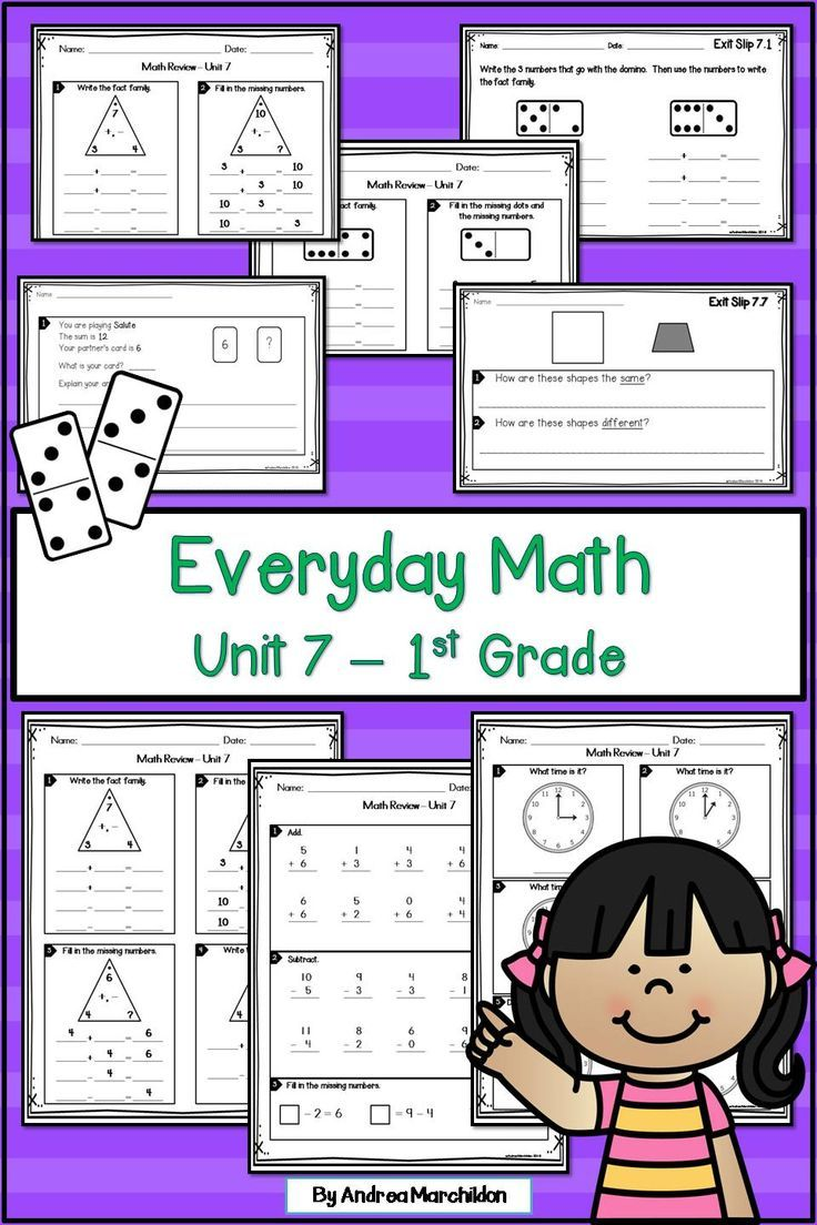 This 1st Grade Everyday Math Unit 7 Review Is Perfect For Your Students This Packet Has Math Exit Tickets And A Re Everyday Math Math Review First Grade Math