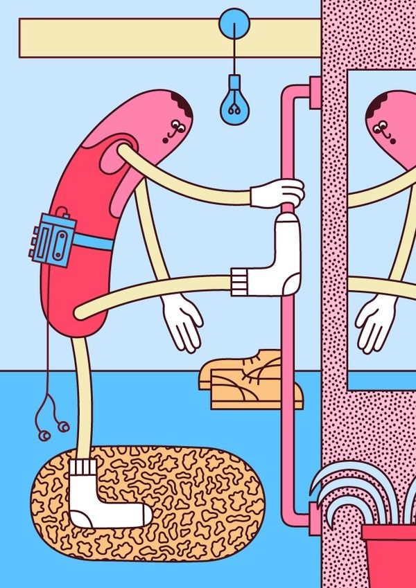 Martina Paukova Illustration Sausage Guy