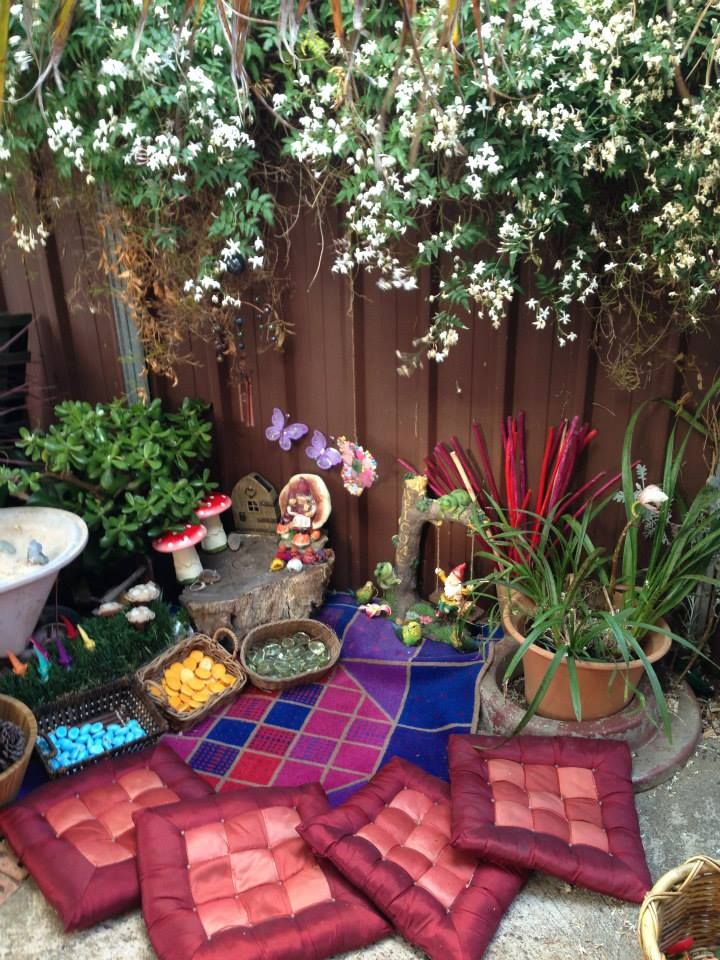 fairy play provocation at puzzles family day care