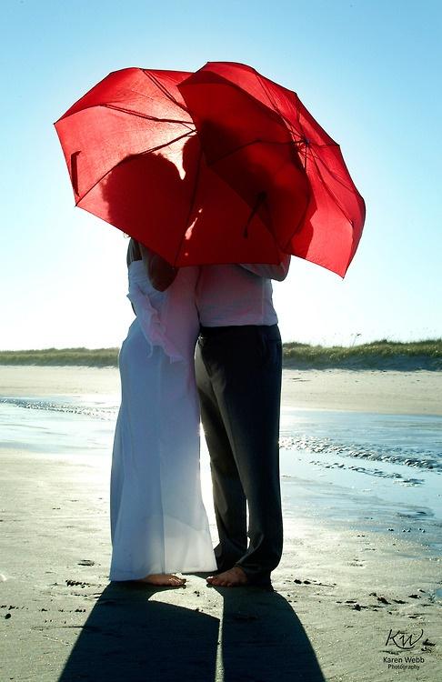 Beach Wedding #umbrella