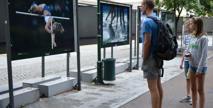 Fotografie Herberta Slavíka předpovídají blížící se olympijské hry