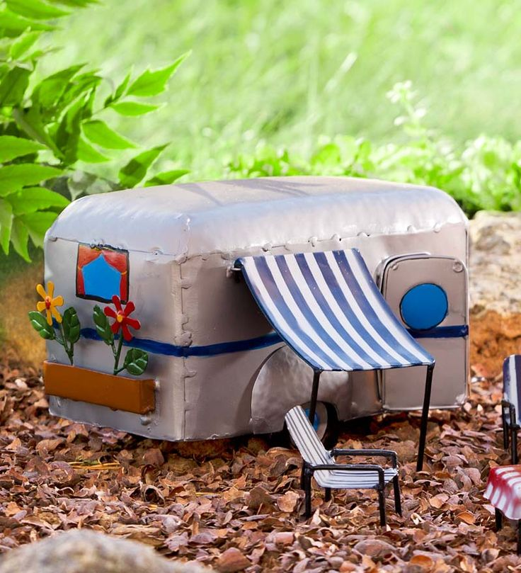 Fairies need vacation, too! And our Miniature Fairy Garden Camper is the perfect way for them to travel :)