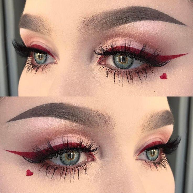 15 Make-ups, die Sie zum Valentinstag probieren sollten – #die #Makeups #probier…