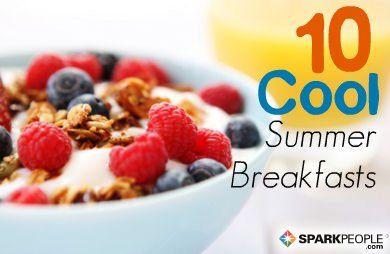 10 Cool & Healthy Summer #Breakfast Ideas (Bye, bye for now, oatmeal!) | via @SparkPeople