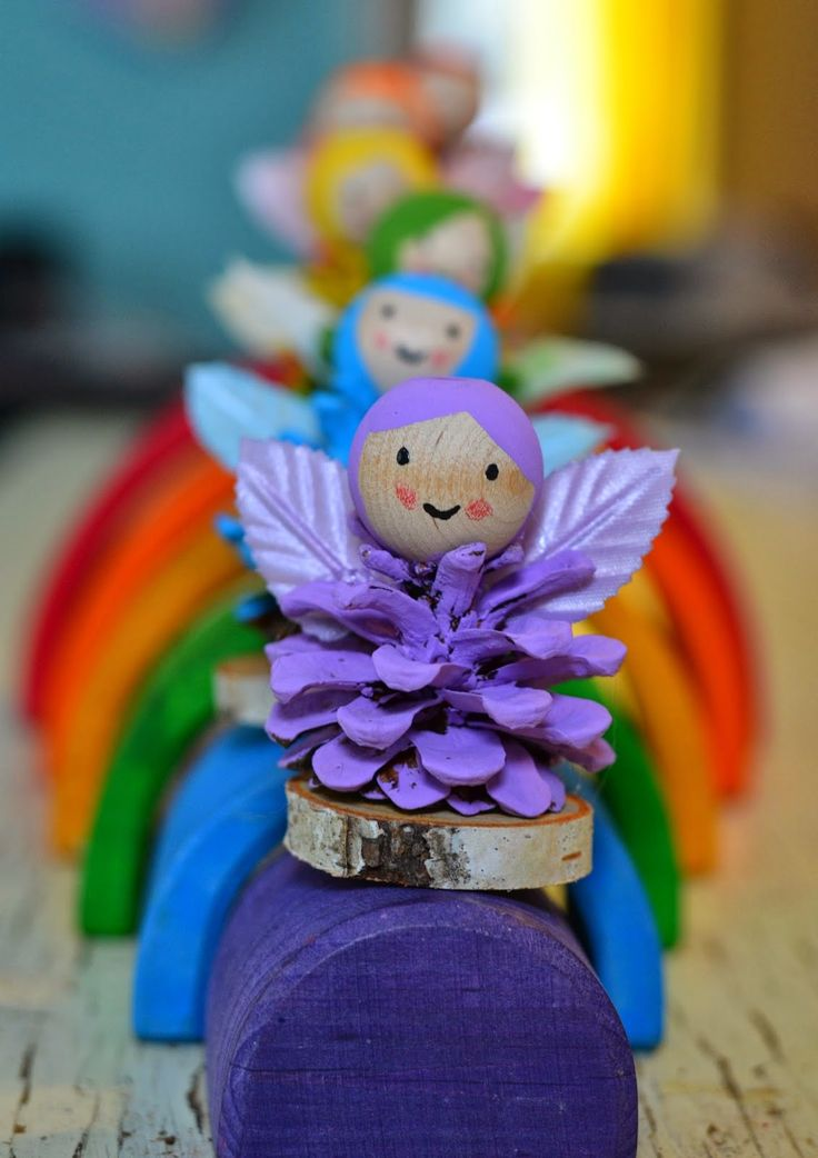 "These cute fairies are a sweet craft to welcome Spring! Would be a great accompaniment to ""The Root Children."""