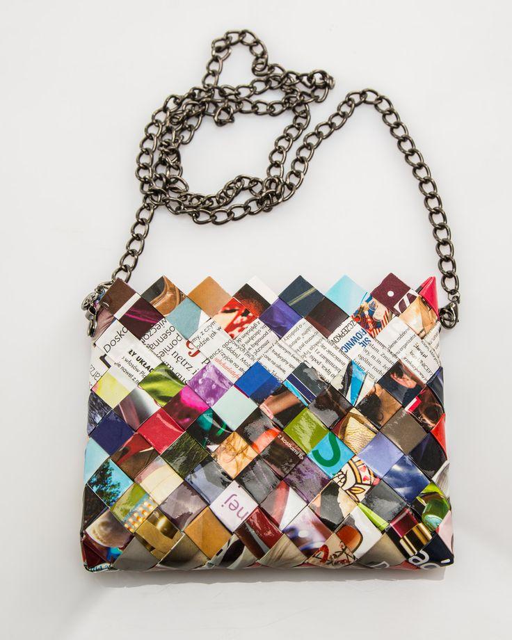 Bag made from upcycled magazines. / Torebka zrobiona z kobiecych magazynów. www.dekoeko.com