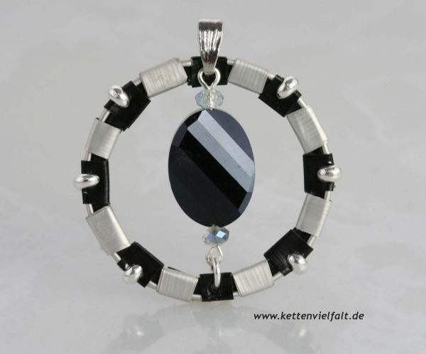 293 Anhänger Kreis schwarz/silber  NESPRESSO® Kaffee