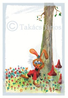 #illustration #rabbit by Janos Takacs