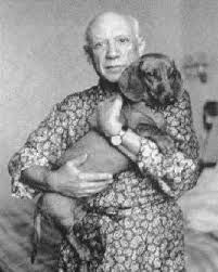 picasso and lump......I knew there was something artsy about me....I love me some doxie, too!