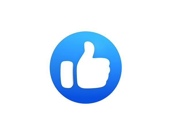 Animated Facebook Like Button By Bariacg 3docean Youtube Logo Logo Facebook Facebook Likes