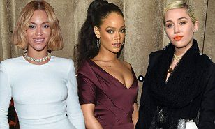 Miley Cyrus, Rihanna, and Beyonce named among 2015 YouTube Music Award honorees  | Daily Mail Online