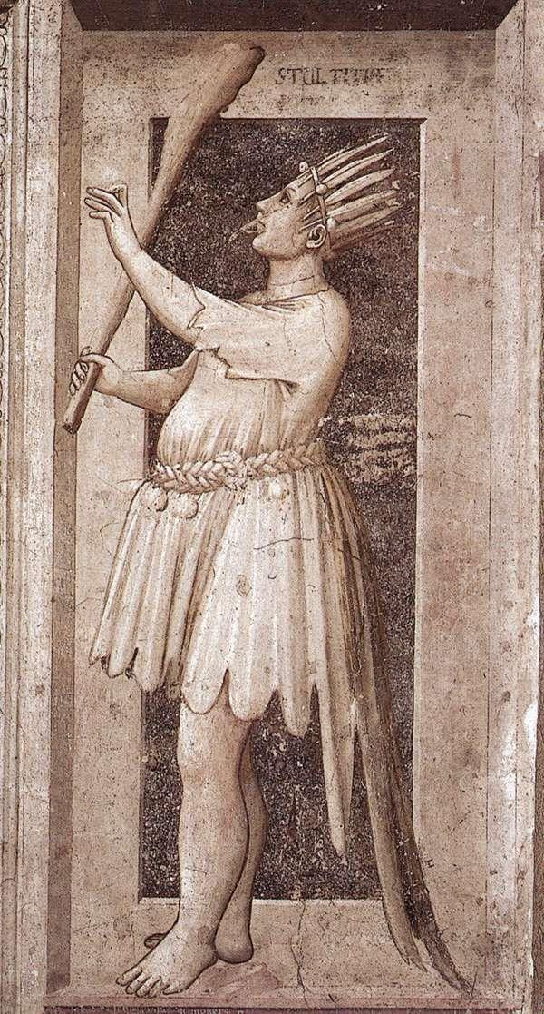 The Seven Vices: Foolishness    1306 Giotto  Fresco, 120 x 55 cm  Cappella Scrovegni (Arena Chapel), Padua