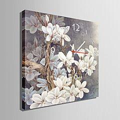 moderno grigio orologio da parete stile floreale in tela