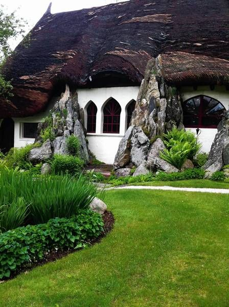 """Offbeat Attractions In The Berkshires - Santarella... Tyringham's """"Gingerbread"""" house."""