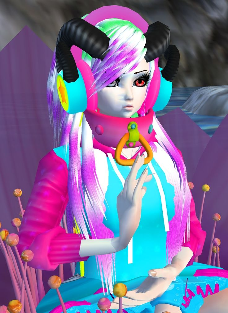I found this picture and its pretty cool i guess. Looks like a colorfull alien xD