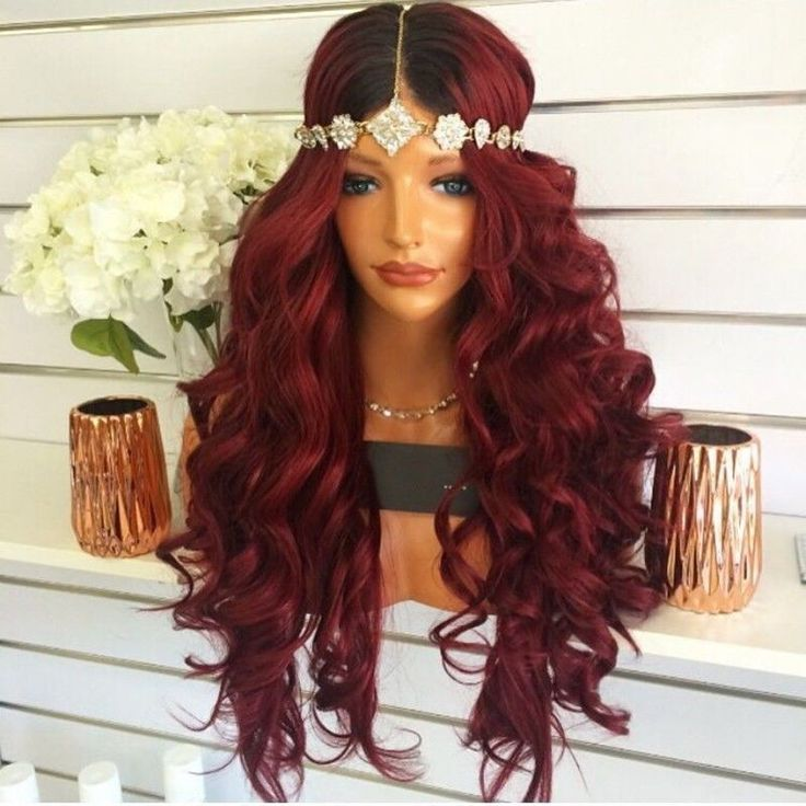 "16-24"" Lace Front Wig Curly Wavy 1B/Bug Cosplay For Women Synthetic Hair 