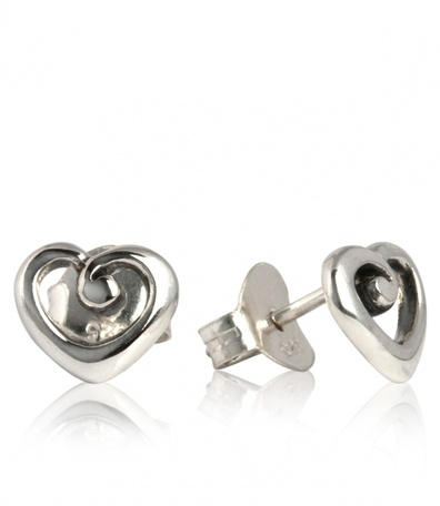 Silver and Some - Evolve - Earrings & Cufflinks, Heart of NZ Studs