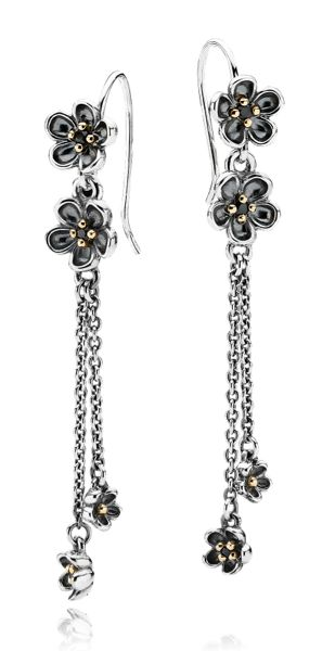 Capri Jewelers Arizona ~ www.caprijewelersaz.com PANDORA earrings with flowers for a spring look