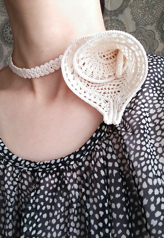 Romanian Point Lace necklace