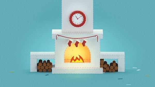 Mamuka Okriashvili / Liberty Bank Paper Animations #motion #animation #gif #christmas