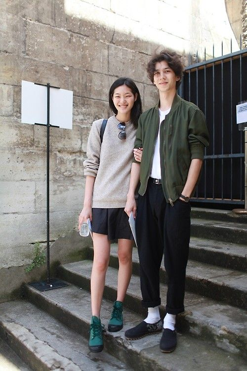Street Style.This couple is really beautiful and natural