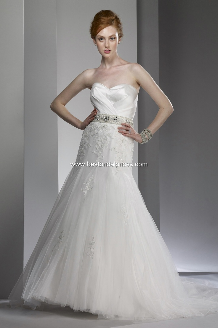 2013 Fit and Flare Strapless Sweetheart Chapel Train Lace Wedding Dress  with Shirred Bodice   Liz Fields   style number 9606165 best Wedding   Bridesmaid Dresses images on Pinterest  . Liz Fields Wedding Dresses. Home Design Ideas