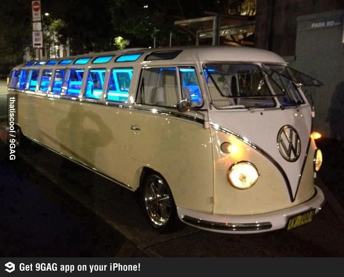 Have you ever seen a Volkswagen Bus Limo?  OMG-- I want one!