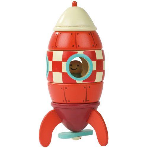 Quelle joie de construire sa fusée et de pouvoir jouer avec et s'inventer plein d'histoires ! Idéal pour les plus jeunes, les pièces s'assemblent grâce à des aimants.