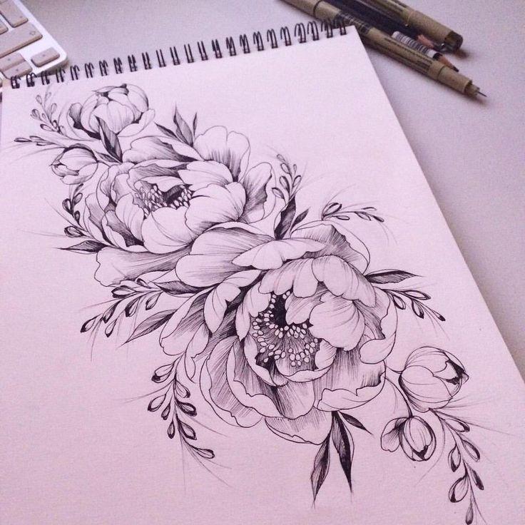 Bildergebnis für Pfingstrosentätowierungsrot #tattoos