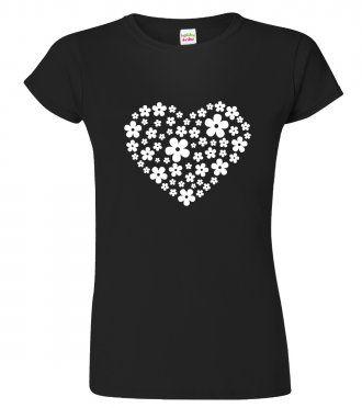 Tričko pro zahradnici - Květované srdce