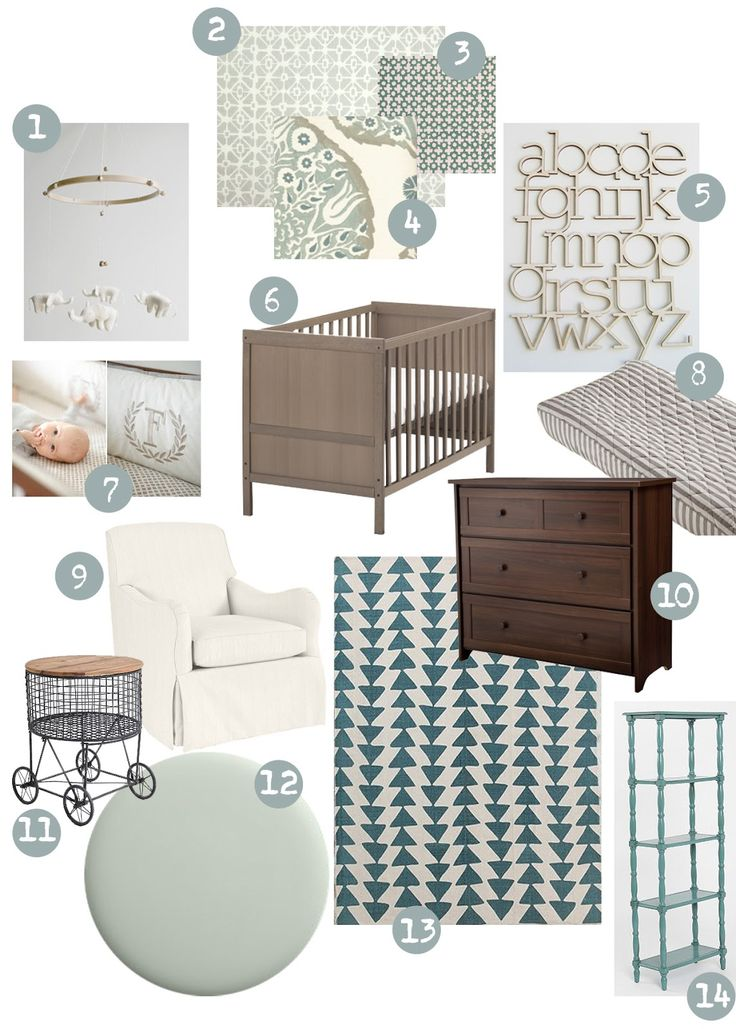 sweet abode: Neutral Nursery Ideas Love this with a dark purple accent wall!