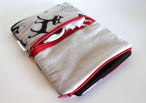 iPad mini Sleeve / iPad mini padded sleeve Cat Lover by Bholsa, $32.00