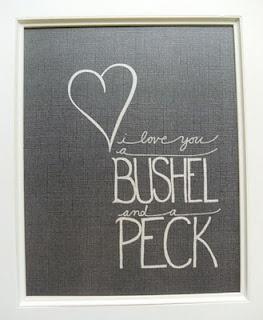 I love you a bushel and a peck, I love you and a hug around the neck!