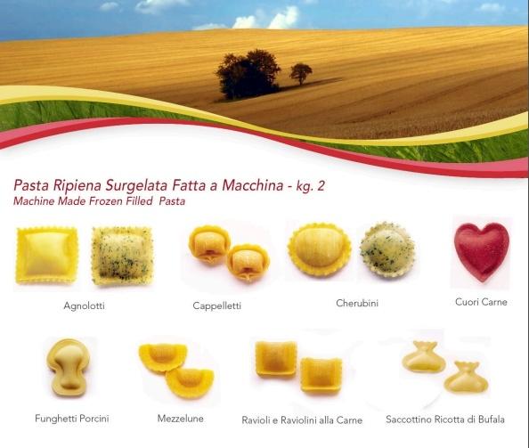 Machine made Frozen Filled Pasta