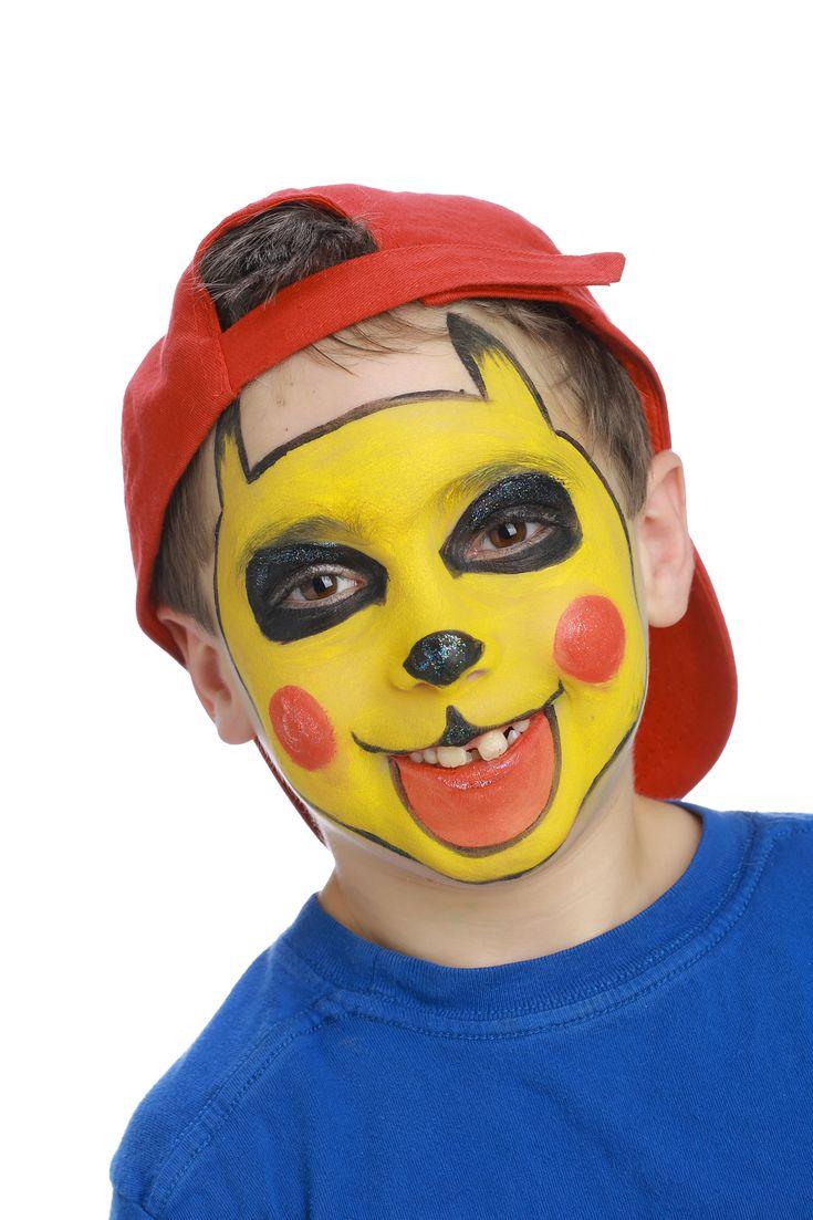 """Pour réaliser ce maquillage """"Pikachu"""", il vous faudra :     Éponge     Pinceau moyen     Fards de maquillage sans paraben :Jaune citron, Rouge vif et Noir"""