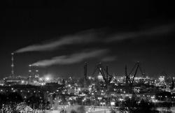 #Stocznia nocą / #Gdansk #Shipyard at #night