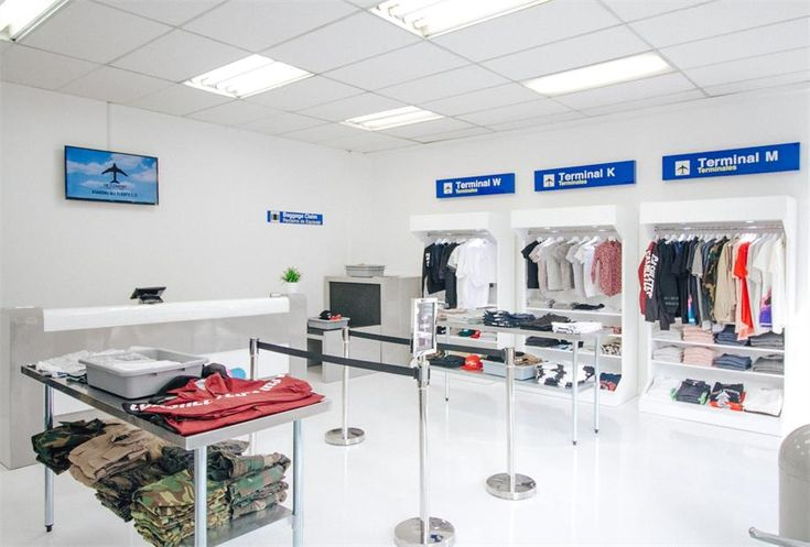 American Cloth Shop Exhibition & Cash Counter