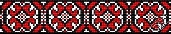 Ukrainian Embroidery - Ornament 109 - Free Cross Stitch Pattern