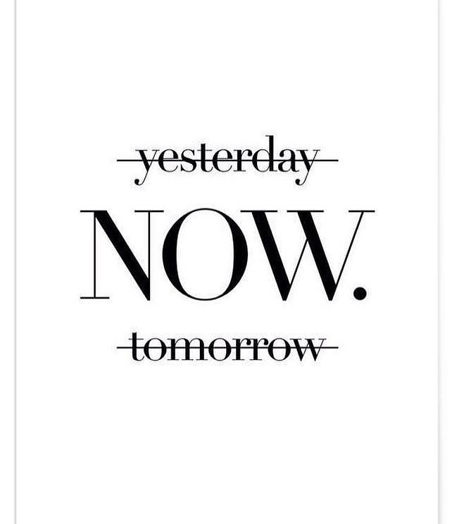 It's all about NOW!