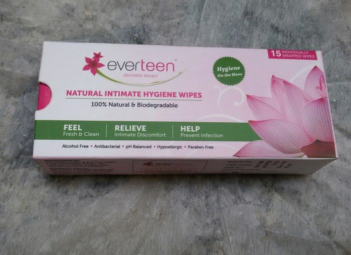 Presenting everteen natural intimate hygiene wipes which are clinically & dermatologically tested. Everteen natural intimate hygiene wipes provides you relief from intimate discomfort while helping you feel fresh & clean with its mild cleansing properties. Every wipe is ultra-soft which is made of 100% natural & biodegradable cloth. The key ingredients used in the liquid are derived from natural plant extracts.