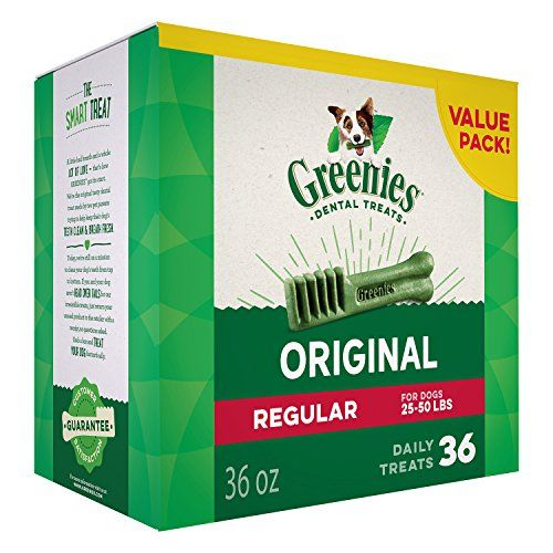 http://picxania.com/wp-content/uploads/2017/10/greenies-dental-dog-treats-regular-original-flavor-36-treats-36-oz.jpg - http://picxania.com/greenies-dental-dog-treats-regular-original-flavor-36-treats-36-oz/ - GREENIES Dental Dog Treats, Regular, Original Flavor, 36 Treats, 36 oz. -   Price:    Recommended by veterinarians for at-home oral care, GREENIES Dog Dental Chews provide a daily treat while controlling plaque, tartar buildup and bad dog breath. Our natural dog chews c