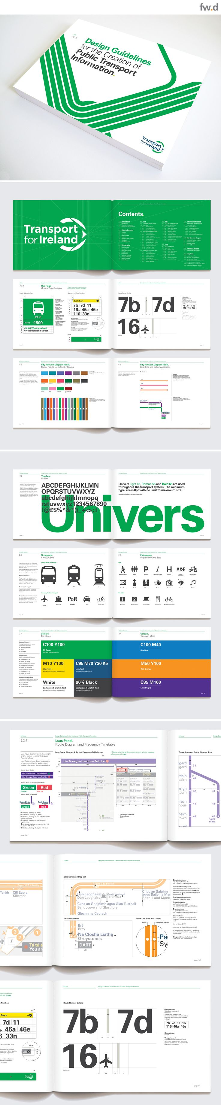 National Transport for Ireland integrated transport information graphics design guidelines by fwdesign. www.fwdesign.com  #guidelines #graphics #layout