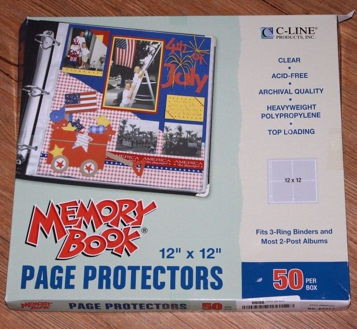 C-Line Memory Book 12 x 12 Scrapbook Page Protectors Top Loading Clear 50 In Box #CLine