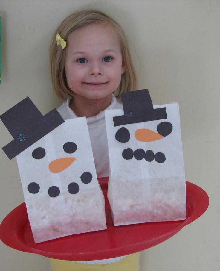 popcorn snowman bags