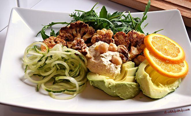 Receitas Veganas | Saladeando Salada de Couve-Flor 'Grelhada'