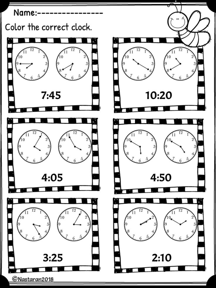 Free Telling Time Worksheet To Nearest 5 Minutes