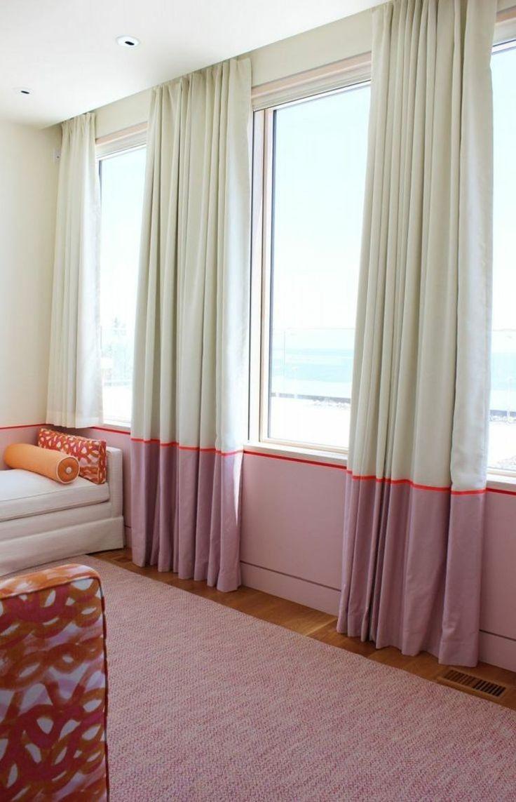 rideaux chambre bicolores parfaitement assortis peinture murale mi