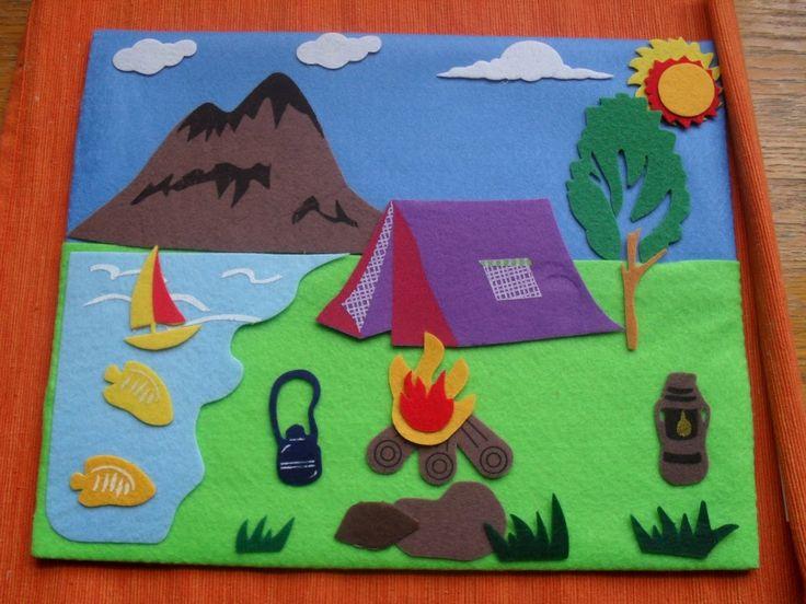 Felt story board ideas - could make felt board around side of cardboard box or cereal box?