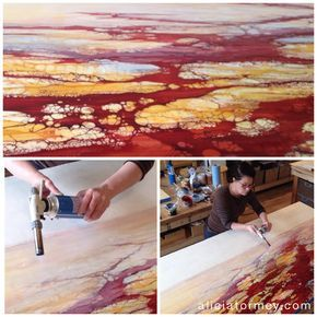 Alicia Tormey working on the early stages of a commission in progress.